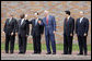 President George W. Bush participates in a photo opportunity with the major economic leaders of the G-8 Summit Wednesday, July 9, 2008, in Toyako, Japan. From left, President Luiz Inacio Lula da Silva of Brazil, President Thabo Mbeki of South Africa, Prime Minister Yasuo Fukuda of Japan, President Hu Jintao of China, and President Felipe Calderon of Mexico. White House photo by Eric Draper
