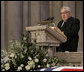 Former Secretary of State Henry Kissinger delivers his remarks honoring former President Gerald R. Ford during the State Funeral service at the National Cathedral in Washington, D.C., Tuesday, Jan. 2, 2007. White House photo by Eric Draper