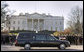The funeral cortege of former President Gerald R. Ford passes by the White House Tuesday, Jan. 2, 2007, en route to the National Cathedral. White House photo by Shealah Craighead