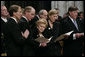 Former first lady Betty Ford is joined by her children, from left, Michael Ford, Steven Ford, Susan Ford Bales and John Ford at the State Funeral service for former President Gerald R. Ford, Tuesday, Jan. 2, 2007, at the National Cathedral in Washington, D.C. White House photo by Eric Draper