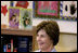 Mrs. Laura Bush talks with students at Washington Middle School for Girls Tuesday, May 29, 2007, in Washington, D.C.
