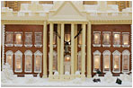 The White House gingerbread house, created by White House pastry chef Thaddeus DuBois, is seen on display Wednesday, Nov. 30, 2005, in the State Dining Room.