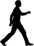 Illustration of person walking