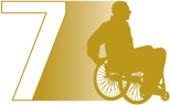 Chapter 7 illustration of a person moving in a wheelchair
