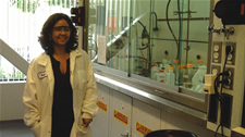 Patricia Trevino working in a lab