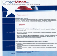 Screenshot of the ExpectMore.gov website