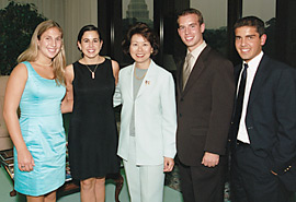 Elaine L. Chao and DOL interns from Summer 2002.
