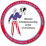 Logo for the Department of Labor's Women Entrepreneurship in the 21st Century Conference