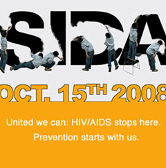 Web Banner for NLAAD: United we can: HIV/AIDS stops here.  Prevention starts with us.