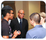 Photo of Dr. Kevin Fenton with a PPSA participant