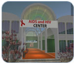 Screenshot of AIDS and HIV Center on Second Life