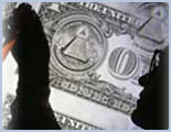 Silhouette of Man in Front of Dollar Bill