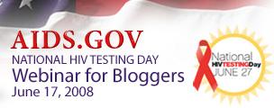 Banner for AIDS.gov National HIV Testing day webinar