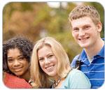 Photo of Three Davidson College students