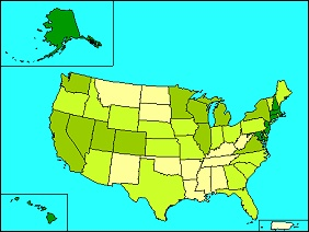 Thematic Map example showing the United States