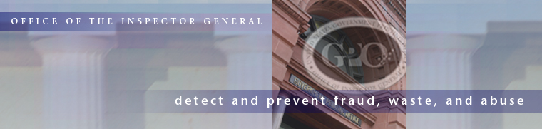 Office of the Inspector General: detect and prevent fraud, waste, and abuse