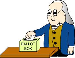 Ben at the ballot box.