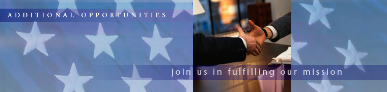 Banner image: Additional Opportunities - join us in fulfilling our mission