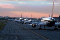 Airplanes on tarmac
