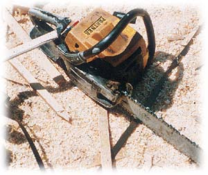 Hand-held chain saw