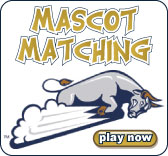 Match college mascots with the university they belong to.