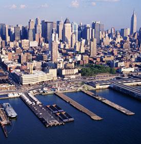 New York's Hudson river port