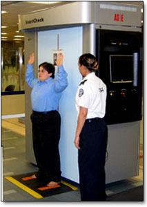 photo of X-ray backscatter scanner
