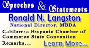 Ronald N. Langston's Remarks before the 29th Annual California Hispanic Chamber of Commerce State Convention