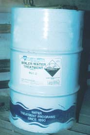 Boiler water treatment chemicals.