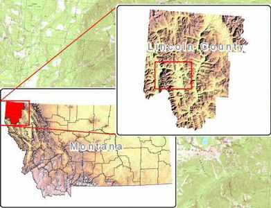 image showing location of Libby relative to Montana