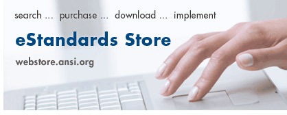 Welcome to the ANSI eStandards Store