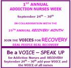 ad of Addiction Nurses Week