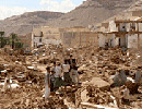 Damage following torrential rains and heavy flooding in Yemen