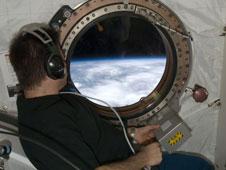 Chamitoff in orbit