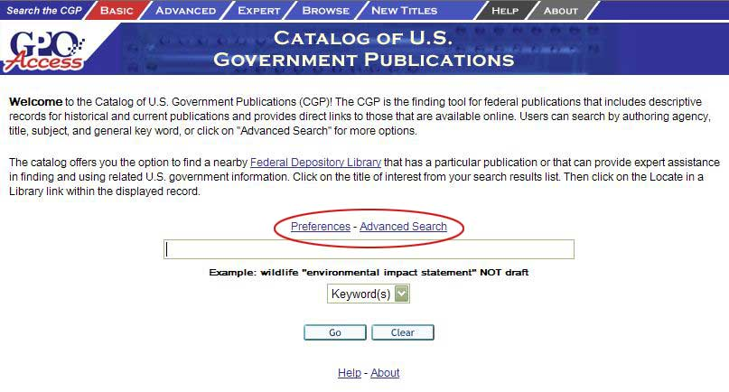 Login Search screen shot