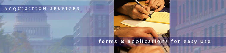 Acquisition Services: Forms & Applications for Easy Use