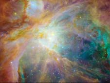 Baby stars are creating chaos in the Orion Nebula
