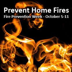 Prevent Home Fires. Fire Prevention Week - October 5-11 (Photo by Michal Leimann)
