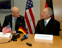 Secretary Chertoff with German Interior Minister Schauble