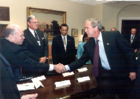 President Bush meets with the members of the NIAC.
