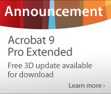 Free Acrobat 9 Pro Extended - 3D update available for download