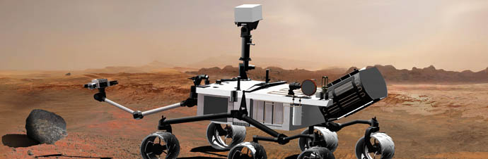 artist concept of Mars Science Laboratory