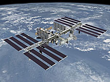 An artist's picture of the finished space station