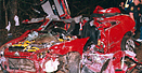 Wreckage of three teens killed by drunk driving.