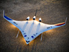 X-48B Blended Wing Body on lakebed