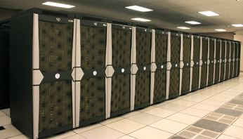 Image of Pleiades supercomputer.