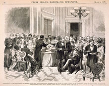 White House luncheon for President Hayes, March 5, 1877 (U.S. Senate Collection)