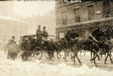 Taft and Roosevelt driving to Capitol, March 4, 1909 (Library of Congress)