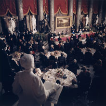 President Reagan speaking at his Inaugural luncheon, January 21, 1985 (Architect of the Capitol)