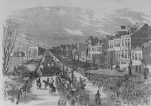 The Inauguration Procession in Honor of President Buchanan Passing through Pennsylvania Avenue, Washington City, March 4th, 1857 (Library of Congress)
